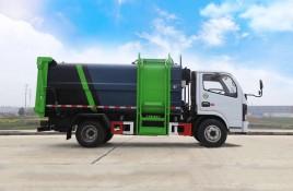 东风D6侧挂桶压缩式垃圾车